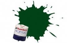 163 DARK GREEN  12ml SATIN Acrylic Tinlet
